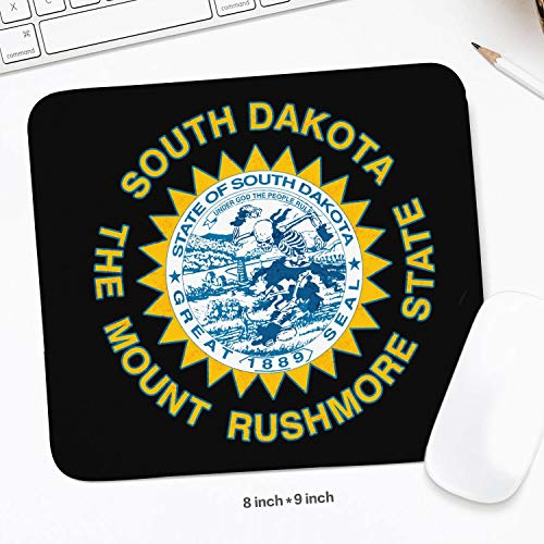 South Dakota Skull The Mount Rushmore State a Mouse pad,Stitched Edges & Skid Proof Rubber Base,Gaming Mousepads for Computers,Laptop,Office & Home