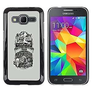 EJOY---Cubierta de la caja de protección la piel dura para el / Samsung Galaxy Core Prime / --GENTE LOVE YOU