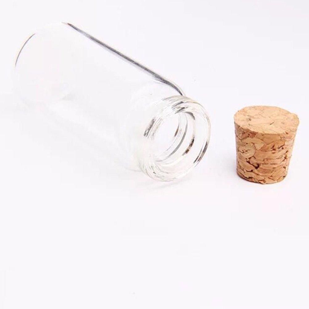 Milopon Botella Cristal Vidrio Decotativa con Corcho para Decoración Bricolaje Regalo Manualidad 22 * 11 * 11mm 12pcs: Amazon.es: Hogar