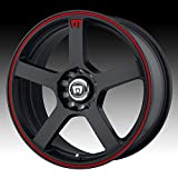 Motegi Racing MR116 Matte Black Finish Wheel with Red Accents (18x8