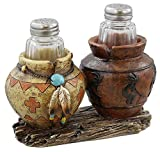 LL Home Southwest Decor - Clay Pot/Jar Kokopelli Salt and Pepper Shaker Set
