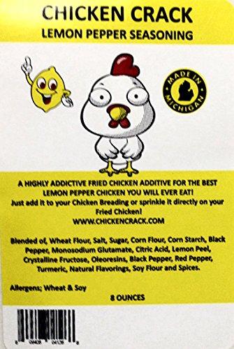 CHICKEN CRACK-Lemon Pepper Seasoning-3 (three) 6oz Packages