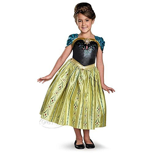Halloween Costumes Castle Hill - Disguise Disney Girls Frozen Anna Coronation Dress Costume Size 7/8