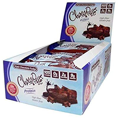 ChocoRite - Diet Bar   Triple Chocolate Fudge   High Fiber, Low Calorie, Low Carb, Low Fat, Low Sugar, (16/Box)