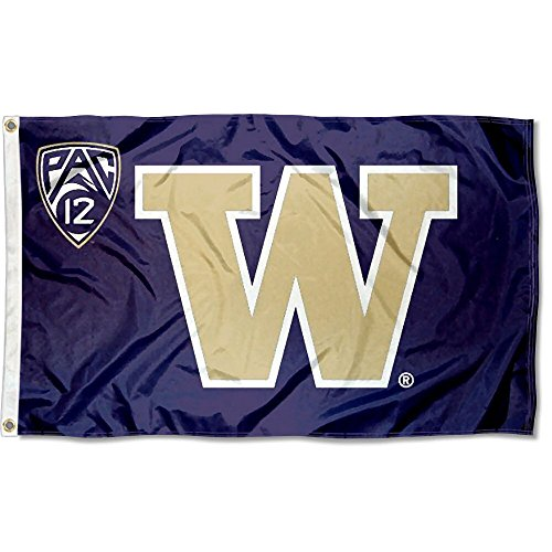 University of Washington PAC 12 Flag and Banner