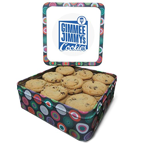 Gimmee Jimmy's Chocolate Chip 2lb Cookie Tin | Perfect for Corporate Gifts, Birthday Presents, and Sympathy Gifts
