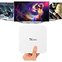 Android TV Box, LOVELYIVA Android 6.0 TV Box Newest TX95 2G 16G S905X Quad Core 2.4G / 5 Dual Wifi