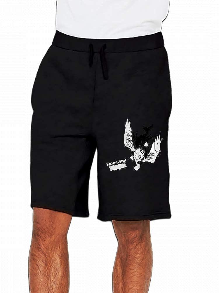 JiJingHeWang Whaleaglion Fantasy Creature Mens Casual Short Trouser