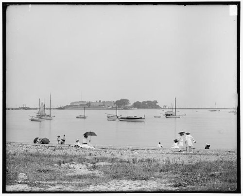 Photo: Fort Independence,children,Pleasure Bay,South Boston,Massachusetts,MA,c1906