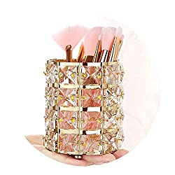 Handcrafted Gold Crystal Rotating Makeup Brush