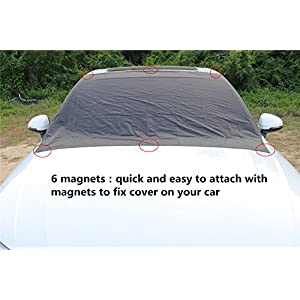 Windshield Snow Cover,Magnetic SUV Car Snow Cover Snow Ice Frost Auto Cover Fit for Cars Trucks Vans and SUVs (82.7 x 47 in)