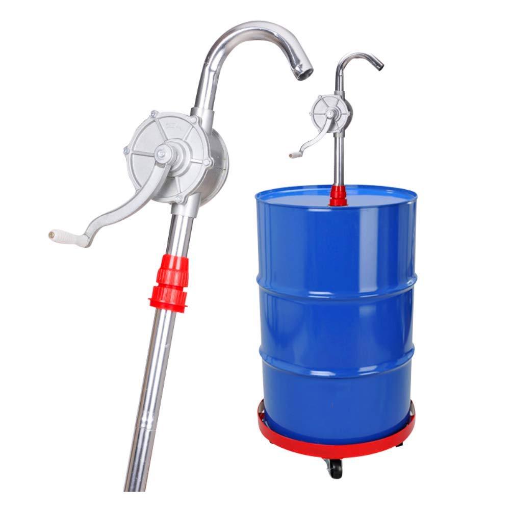 KUNHEWUHUA Hand Crank Oil Pump Fuel Transfer Rotary Hand Pump Manual Oil Pump Machine Oil Barrel Pump for Motor Oil Diesel Lubricating oil 15L/min 1'' Outlet