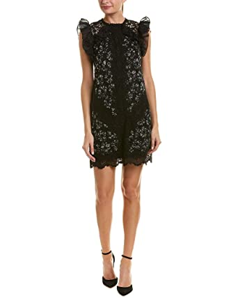 a3cabd94 Amazon.com: Rebecca Taylor Women's Sleeveless Moonflower Embroidered Dress  Black Combo 2: Clothing