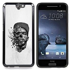 - Abstract Skull Explosion - - Cubierta del caso de impacto con el patr??n Art Designs FOR HTC ONE A9 Queen Pattern