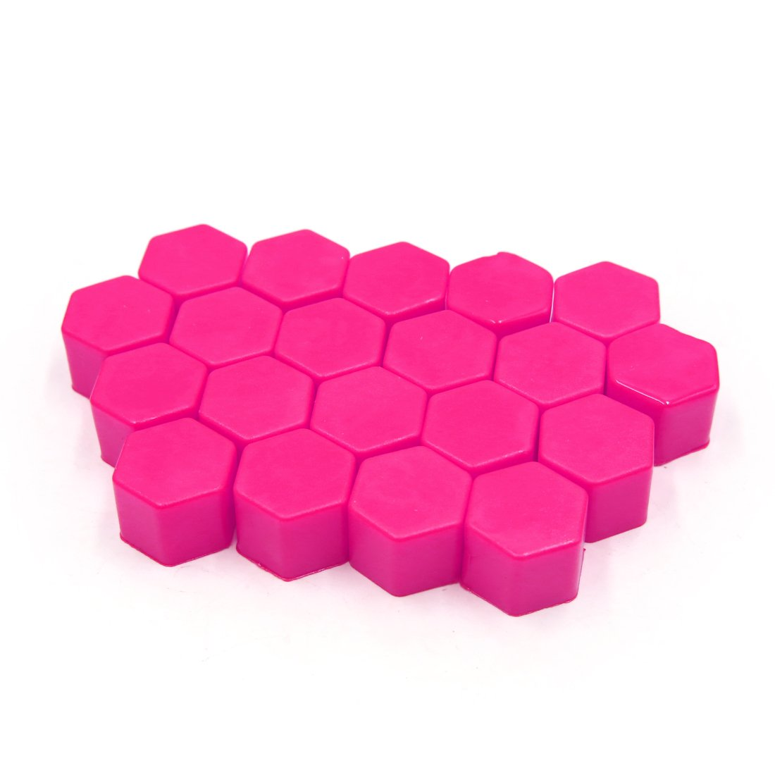 uxcell 20Pcs 17mm Pink Luminous Car Wheel Lug Nut Bolt Hub Screw Cover Protective Cap