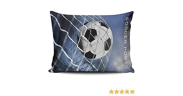 WHEYT Funda de Almohada Decorativa con balón de fútbol Funda de ...
