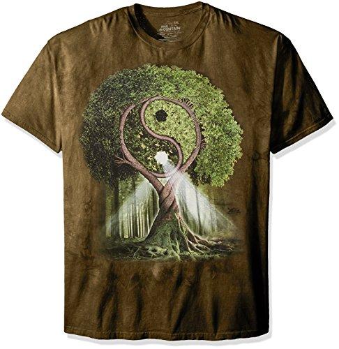 The Mountain Unisex Erwachsen Yin Yang Tree Nature T Shirt