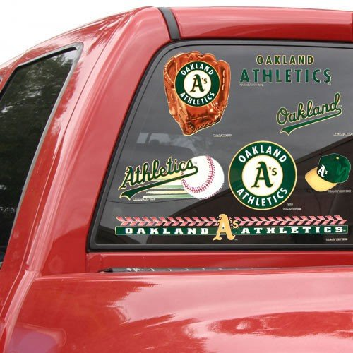 17' Window Cling Decal (MLB Oakland Athletics 11'' x 17'' Window Clings Sheet)