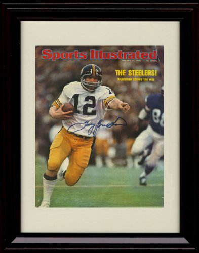 Bradshaw Autographs - Framed Terry Bradshaw Sports Illustrated Autograph Replica Print - Super!