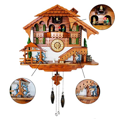 Cuckoo Clock Black Forest Quartz Wall Clock Pendulum