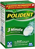 Polident Antibacterial Denture Cleanser Tablets 3 Minute - 84 ct, Pack of 6