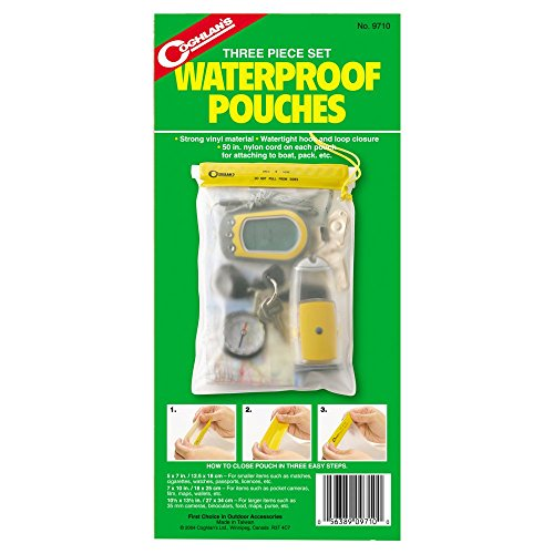 Coghlans 3 Piece Waterproof Pouch - Coghlans Waterproof Pouch