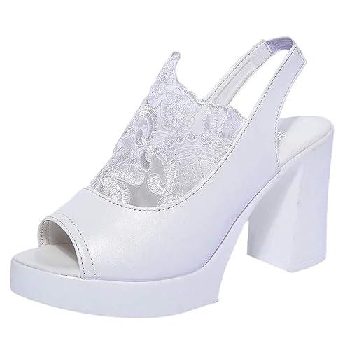 Femme Peep Plateforme de Chaussures Talon Sandales Toes n8wkO0P