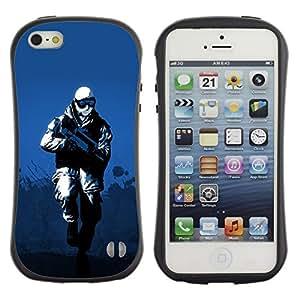 """Hypernova Slim Fit Dual Barniz Protector Caso Case Funda Para Apple iPhone SE / iPhone 5 / iPhone 5S [Soldado de Invierno""""]"""