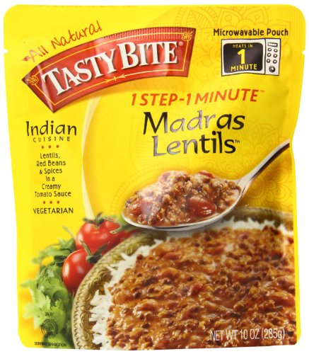Tasty Bite Madras Lentils, 10oz Pouches, 6-Count