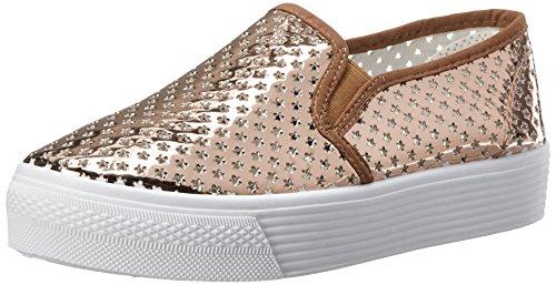 Qupid Kvinna Stardust-01 Mode Sneaker Ökade Guld