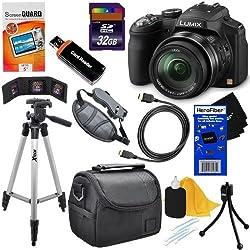 Panasonic Lumix Dmc-fz200 12.1 Mp Digital Camera With Cmos Sensor & 24x Optical Zoom (Black) + 11pc Bundle 32gb Deluxe Accessory Kit W Herofiber Ultra Gentle Cleaning Cloth