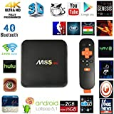 Greatever M8S PRO 4K H.265 TV BOX Amlogic S905 Quad Core AP6330 Dual Wifi 2.4G/5G Android5.1 2G 16G GooglePlay Pre-installed Bluetooth4.0 1000M Ethernet Add-ons Full Loaded Streaming Media Player