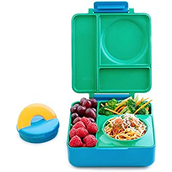 OmieBox Bento Box With Insulated Thermos For Kids, Meadow