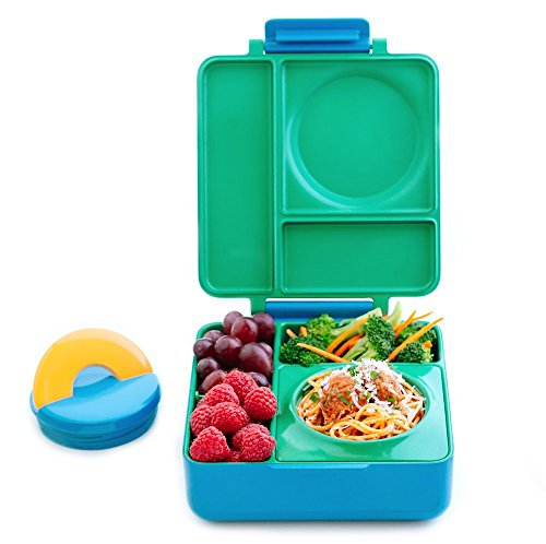 OmieBox Bento Box With Insulated Thermos For Kids, Meadow (Lunch Kids Insulated)