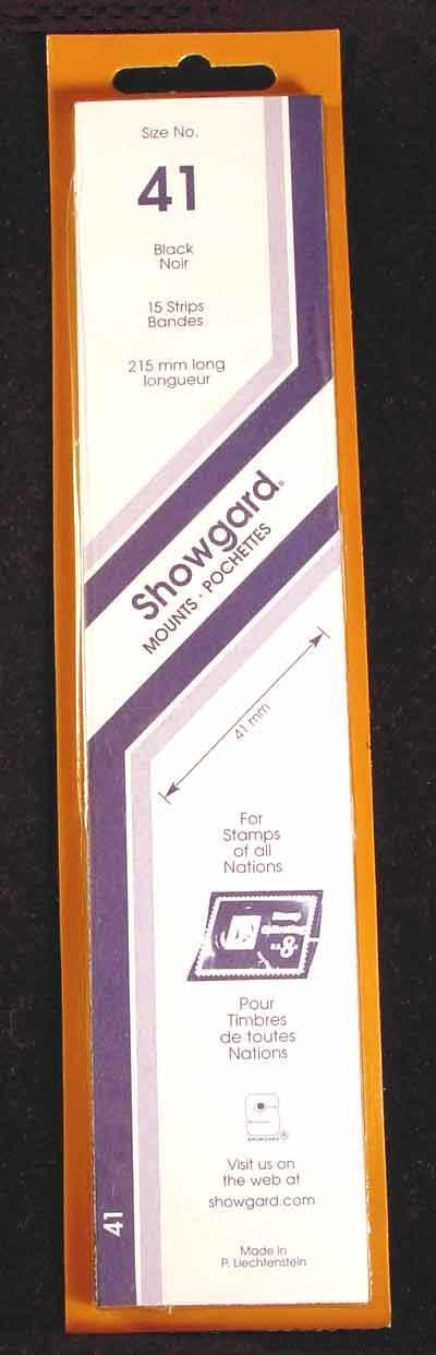 Showgard Strip Style Black Stamp Mounts Size 74