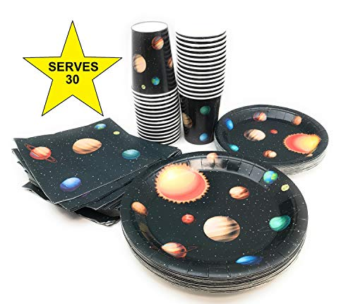 Serves 30 | Complete Party Pack | Outer Space | 9