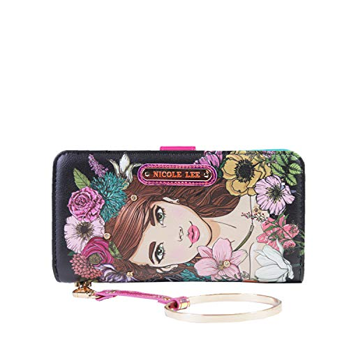 Hidden Wristlet - Color and Style Mini Clutch Wallet with Exclusive Print and Detachable Bracelet Wristlet and RFID Blocking (Hidden Treasure Marlyn)