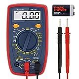 AstroAI Multímetro Digital Profesional, Voltimetro Amperimetro, Medidor de Corriente Voltaje DC, Resistencia, Continuidad, Diodos