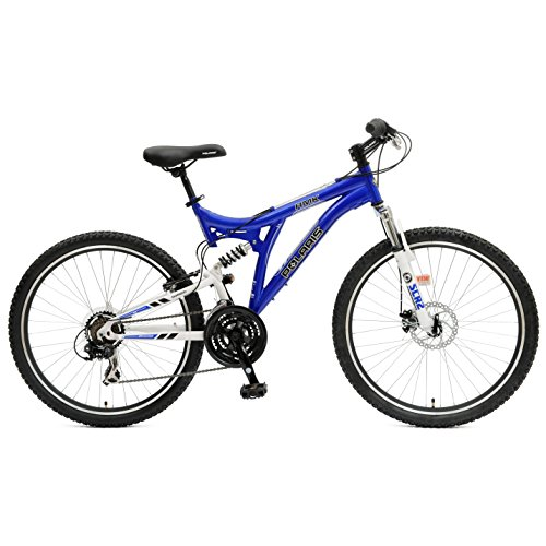 Polaris RMK Full Suspension Mountain Bike, 26 inch Wheels, 18.5 inch Frame, Men's Bike, Blue Bicycle Full Suspension Frames