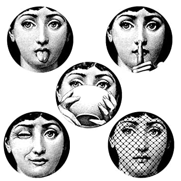 JustWalls New 2018 5 Pieces Milan Italy Designer Fornasetti Plates Pattern Wallpaper Separated Painting