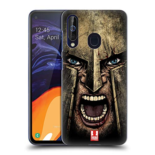 Head Case Designs Screaming Warrior Medieval Helmets Hard Back Case Compatible for Samsung Galaxy A60 ()