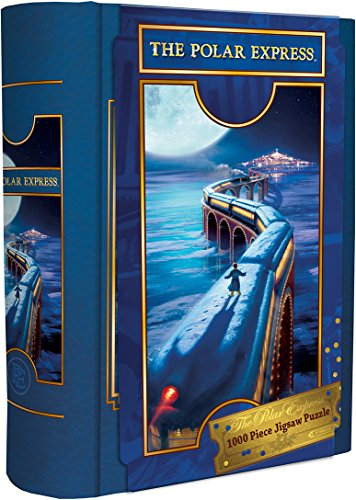 MasterPieces Book Boxes Holiday Jigsaw Puzzle, The Polar Express, Train, Collectible Box with a Magnetic Closure, 1000 Pieces