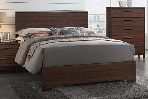Coaster Home Furnishings 204351KW Panel Bed, Rustic Tobacco/Dark ()