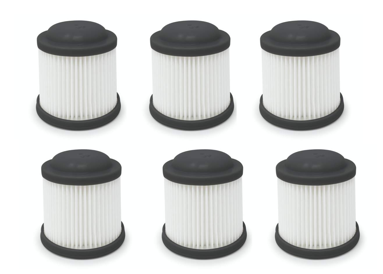Cordless Vac Replacement Filter Compatible with Black & Decker. Compare to Part # PVF110. (6-Pack) by Fette Filter
