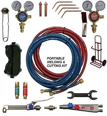 YWS estilo de soldar a GAS PORTA UNIDADES y KIT de accesorios para cortar/juego