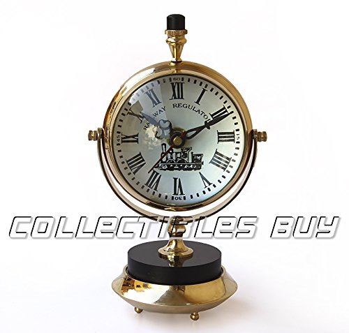 Nautical Clock Ship Table Clock Brass Clock Maritime Watch Antique Clock