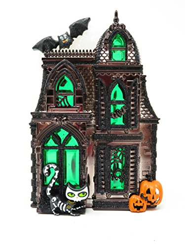 Bath and Body Works White Barn Large Haunted House Halloween 2017 Wallflower Nightlight Fragrance Plug-In Diffuser Unit]()