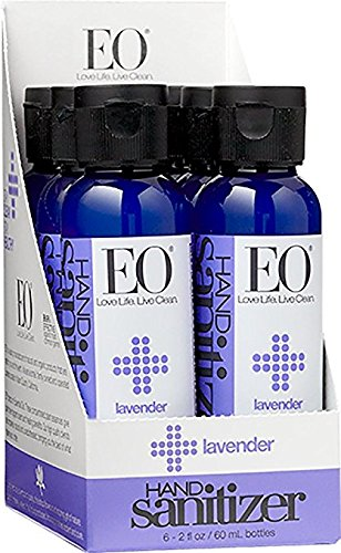 (EO Botanical Hand Sanitizer Gel, Lavender, 2 Ounce (Pack of 6))