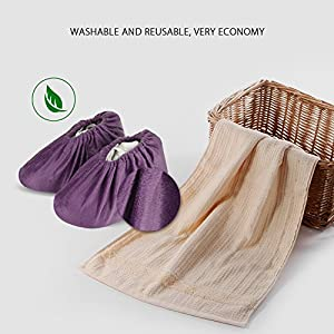 NKTM Non-Slip Washable Reusable Shoe Covers - washable