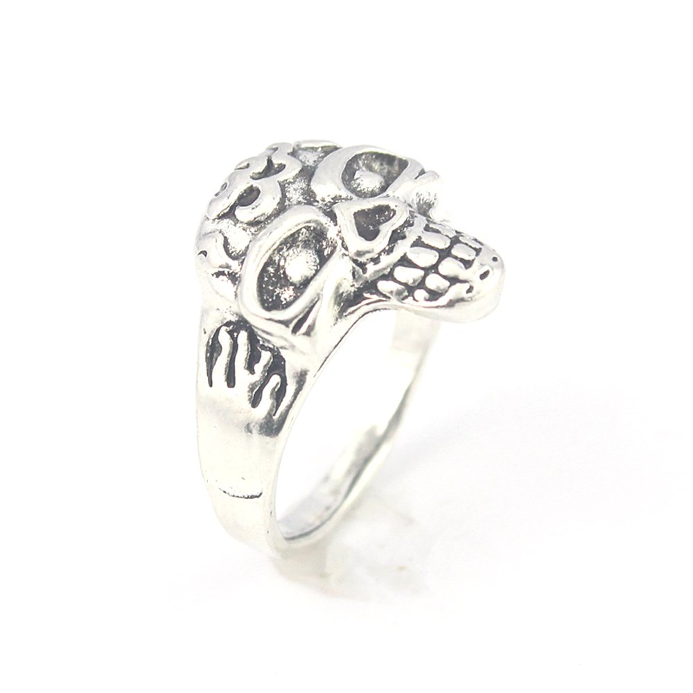 silverjewelgems Skull Plain Fashion Jewelry .925 Silver Plated Ring 10 S23618